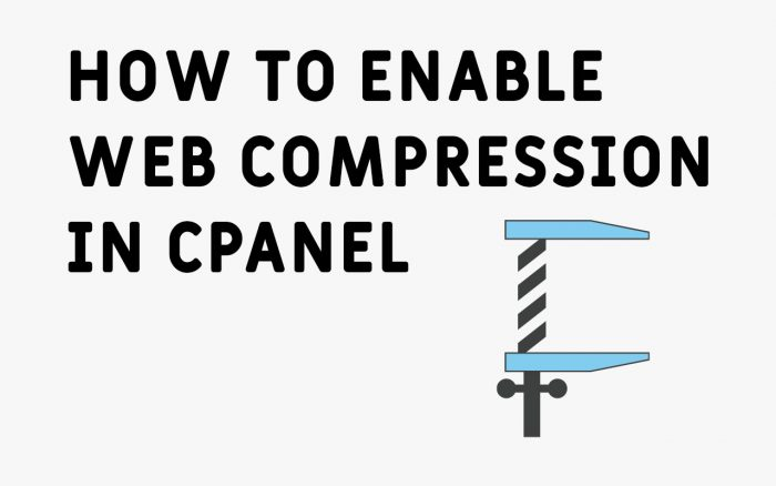 Enable Web Compression in cPanel